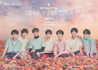 CAT 1&2&6 bts world tour love yourself singapore tickets