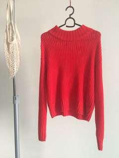 H&m Knitted Red Top