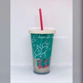 Starbucks Reindeer and Present Christmas Tumbler