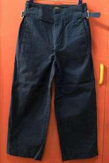 Forever 21 Blue Cropped Buckled Pants