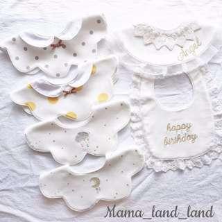 Sweetie newborn baby girl cotton bibs