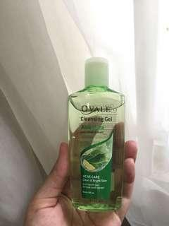 Cleansing gel aloe vera with lemon extract for acne care