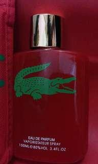 Lacost red 4 men perfume