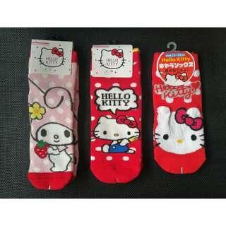 Hello Kitty & Melody Women Cotton Plush Socks