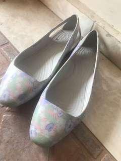 Crocs floral shoes