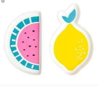 Kikki k lemon watermelon dish soap key plate
