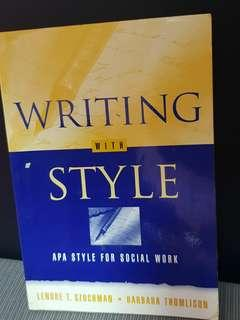 Writing with style. APA style for social work