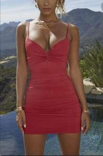 Ohpolly Red Ruched Dress