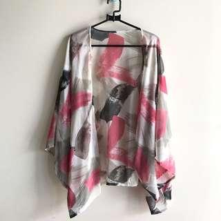 Abstract pink outerwear