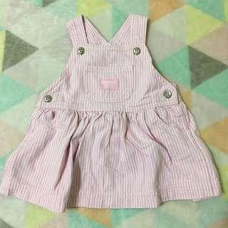 OSHKOSH Pink Stripes Pinafore Dress