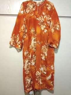 Brown Tranparent Baju Kurung
