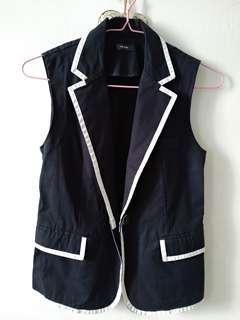 Korean brand navy structured vest