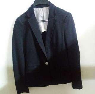 (全新)Uniqlo 綿質女裝西裝外套 Suit褸 (M)