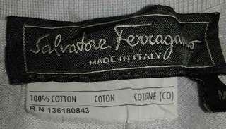 Salvatore ferragamo basic colar tee snap button vintage