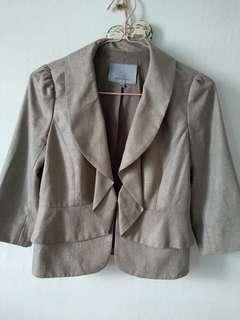 Classiques Entier ruffle waist soft blazer