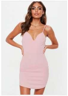 BRAND NEW Miss Guided Pink Bodycon Dress