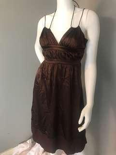 Satin summer dress - size S