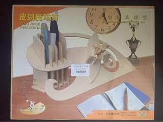 木製仿真模型:筆筒