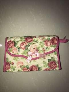 Flowery pouch