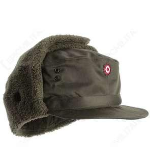 Original WWII WW2 Vintage Austrian Military Army Winter Ear Flaps Fleece Lined Cap/Hat Unisex Travel Cosplay