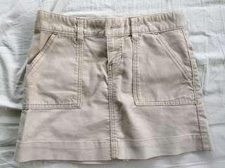 Brown Denim Mini Skirt