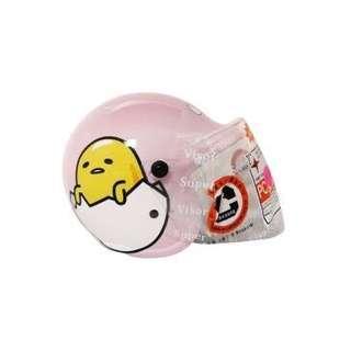 🚚 正版授權 三麗鷗 GUDETAMA 蛋黃哥 小童半罩式安全帽 小童安全帽 安全帽 附鏡片