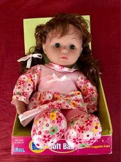 "14"" Huggable baby doll"