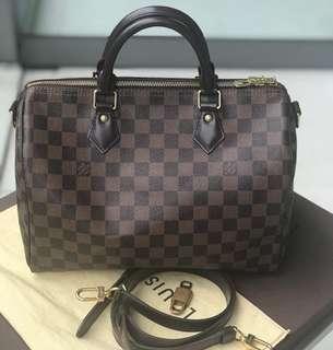 d7533706e 2016 Louis Vuitton Speedy 30 Bandou DE ♥ rank a / authentic or money back