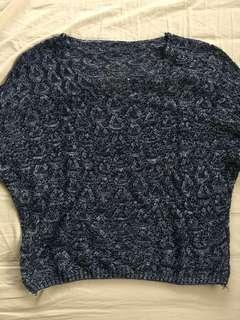 Knitted blue blouse