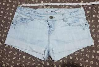 Topshop moto denim shorts