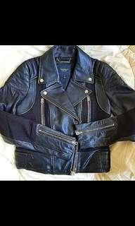 (冬天必備) Juicy Couture Leather Biker Jacket 皮褸