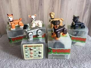 PawBrick BearBrick Series 1 Dog/Cat Figurines w RARE Robot Dog AiBo
