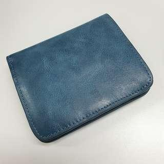 BN Teal Blue Leather Wallet
