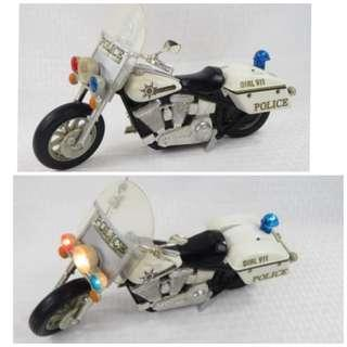 Authentic Vintage Buddy L 1994  - Harley Davidson Police Motorcycle with Lights & Sound