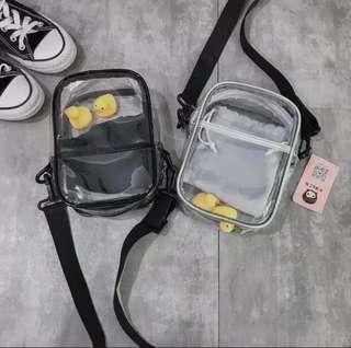 Duck slingbag transparan