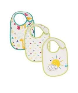 🚚 Brand New Mothercare Pack of 3 Bibs