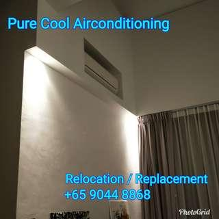 Aircon Relocation / Replacement work