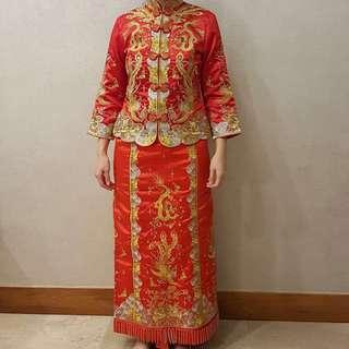 Wedding Female Red Kua Chinese Traditional Costume
