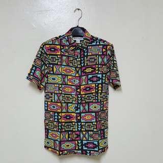 038d82ac7a4 H&M x Coachella Geometric Aztec Print Shirt