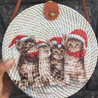 Rattan Bag Bali Christmas Edition 3