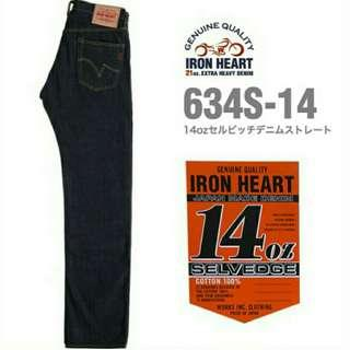 Iron Heart 14oz 634S Straight Fit Selvedge Jeans