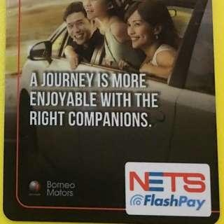 Borneo Motors <TOYOTA> Collectible Vintage Nets Flashpay Card