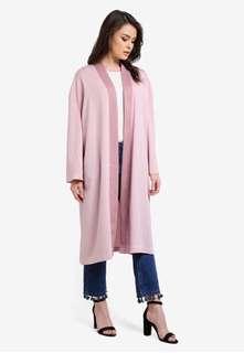 Zalia Satin Kimono Midi Cardigan