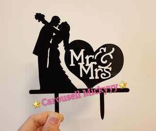 Mrs&Mrs Wedding Cake Topper (Ready stock)