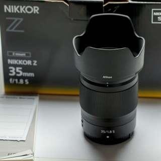 Nikon Nikkor Z Mount 35 mm F1.8 S
