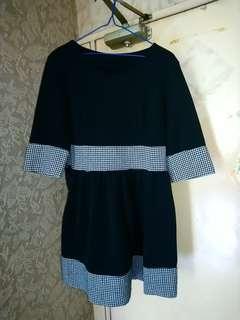 黑色棉質連身裙