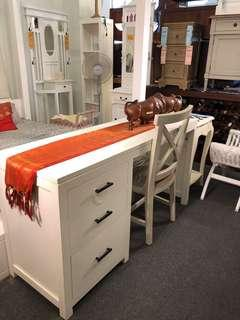 French White Writing Desk Table Warehouse Sale