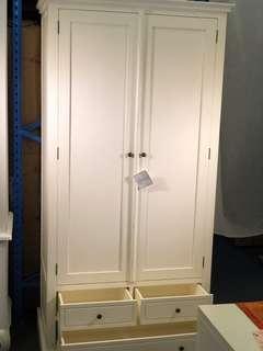 French White Wardrobe Warehouse Sale Extra Discount