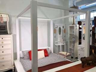 French Canopy 4 Poster Bed Extra Discount at Warehouse Sale