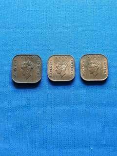 Malaya British Borneo King George vi one cent coin